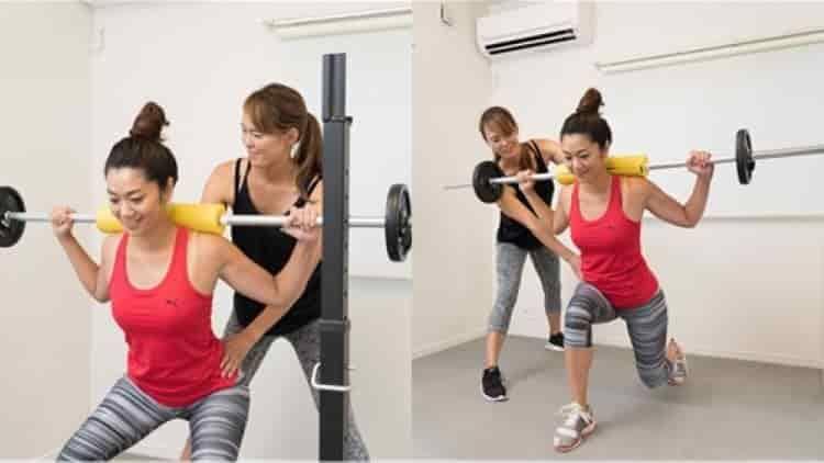 Sスタイルメソッド、女性パーソナルトレーナーが筋トレを指導する風景