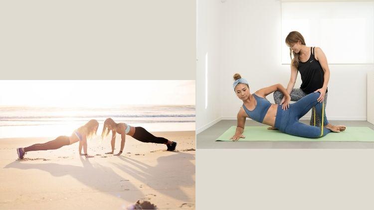 ファンクショナルトレーニングをする女性